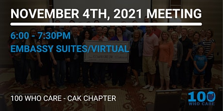 100 Who Care November 4th, 2021 Meeting tickets