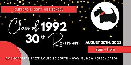 Clifford J. Scott High School Class of 1992 30th Reunion tickets