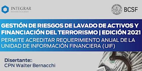 GESTIÓN DE RIESGOS DE LAVADO DE ACTIVOS Y FINANCIACIÓN DEL TERRORISMO boletos