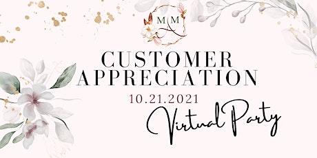 Virtual Customer Appreciation Party tickets