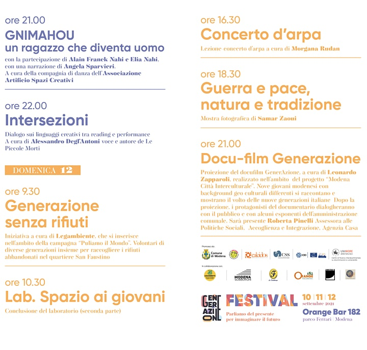 Immagine Generazione Festival