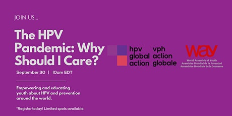 The HPV Pandemic: Why Should I Care? tickets