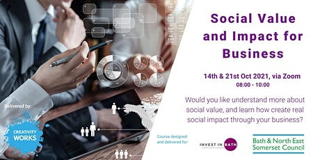 Social Value and Impact for Small and Medium Size Organisations in B&NES tickets