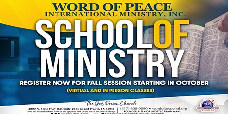 Word of Peace School of Ministry tickets