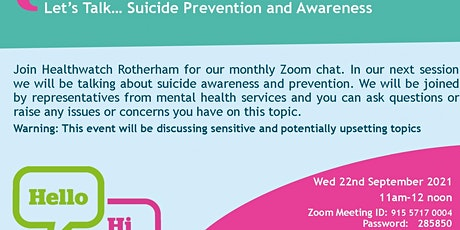Let's Talk...Suicide Prevention and Awareness tickets