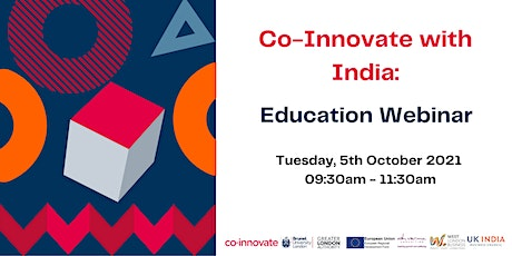 Co-Innovate with India - Higher Education Webinar tickets