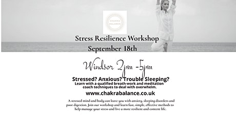 Stress Resilience Workshop 18th Sep 2021 2pm-5pm tickets