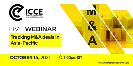 ICCE Webinar: Tracking M&A Deals in Asia-Pacific tickets