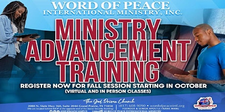 Word of Peace Ministry Advancement Training tickets