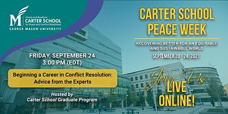 Beginning a Career in Conflict Resolution: Advice from the Experts tickets