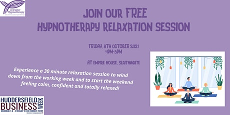 30 MINUTE HYPNOTHERAPY RELAXATION SESSION tickets