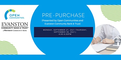Pre-Purchase (Open Communities & Evanston Community Bank & Trust) tickets