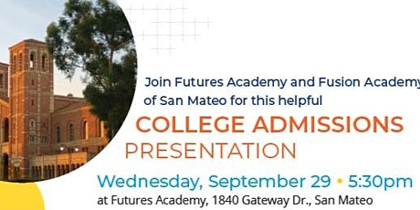 COLLEGE ADMISSIONS PRESENTATION tickets