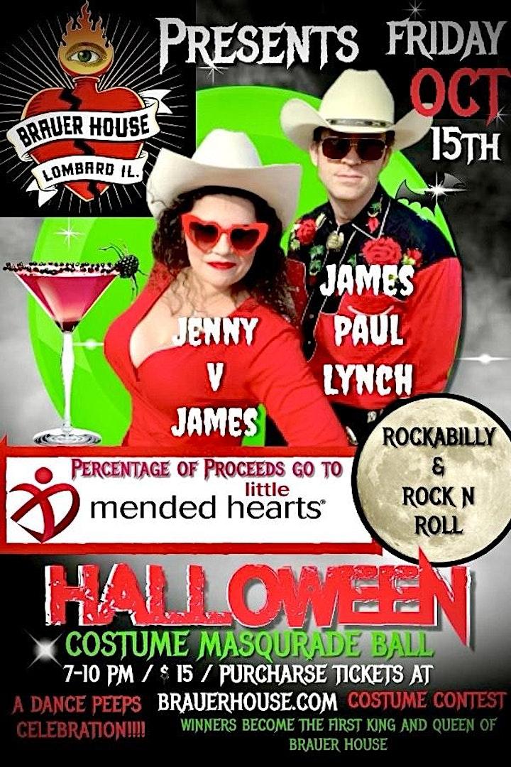 Halloween Costume Masquerade Ball with Jenny V James & James Paul Lynch image