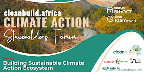 Clean Build Africa Climate Action Event tickets