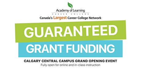 Guaranteed Grant Funding Open House with AOLCC Calgary tickets