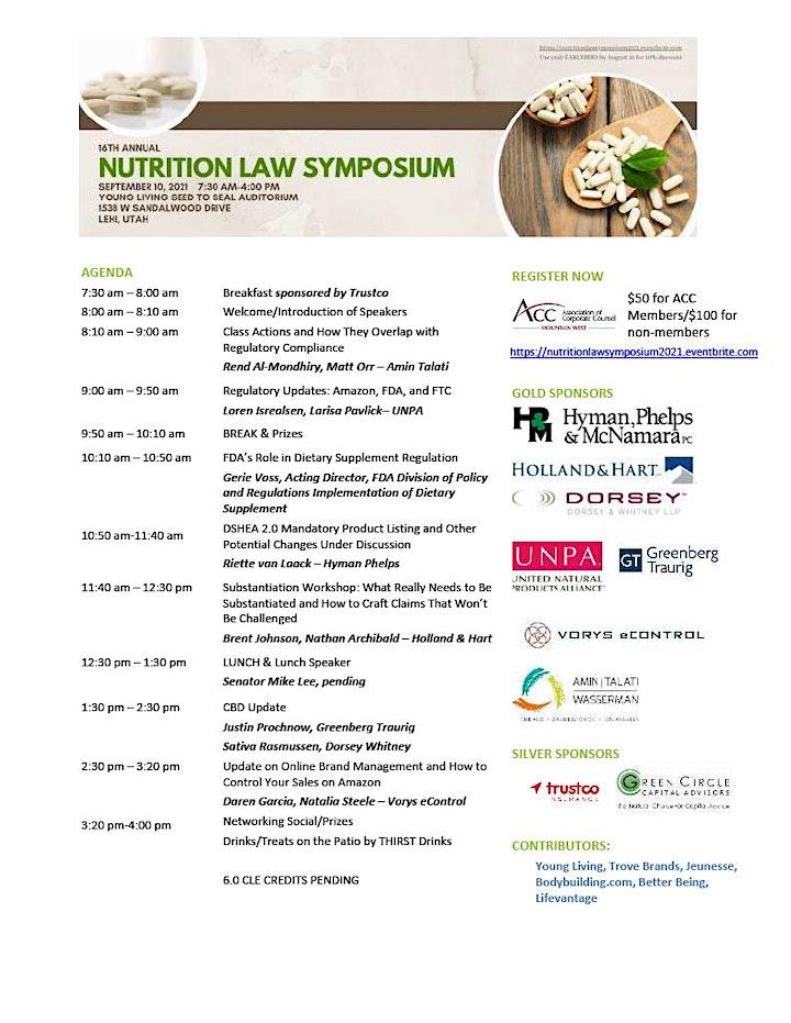 16th Annual Nutrition Law Symposium image