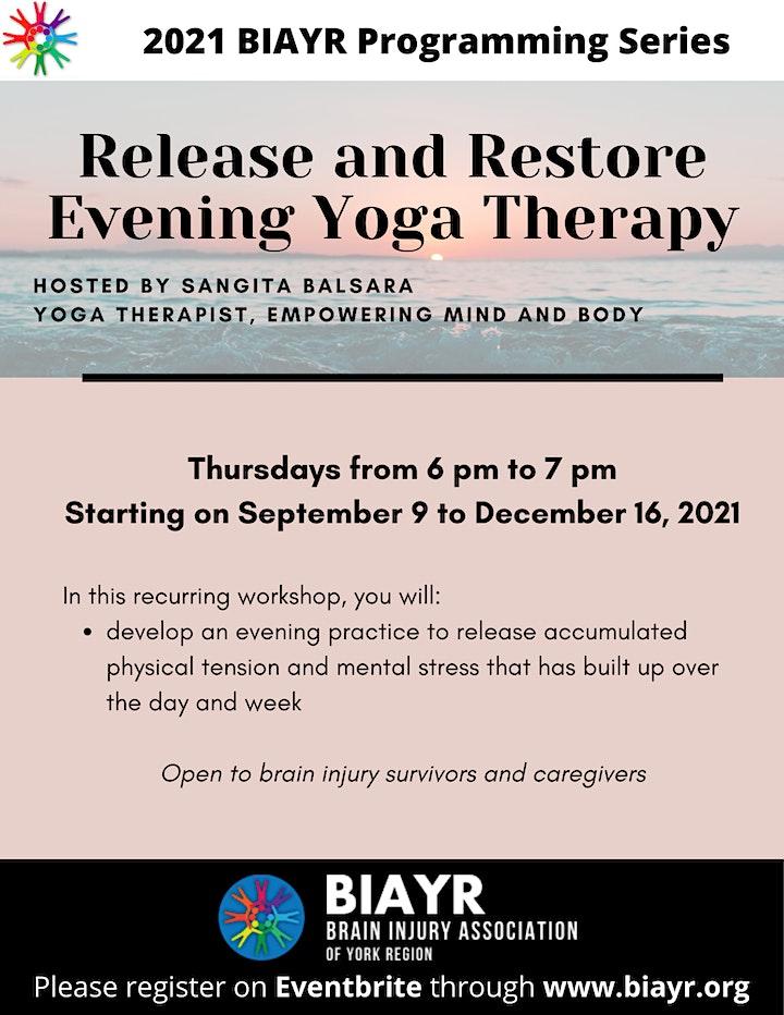 Yoga Therapy for Brain Injury - 2021 BIAYR Programming Series image
