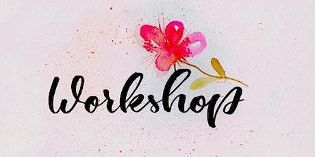 Brush und Hand Lettering Workshop - Zwei Techniken in einem Workshop billets