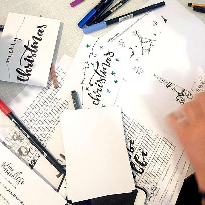X-MAS - Weihnachtlicher Lettering Workshop: Bild