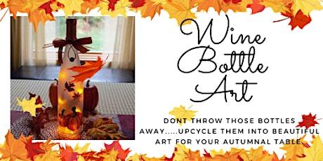 Autumnal Wine Bottle craft - upcycling those wine bottles to beautiful art. tickets