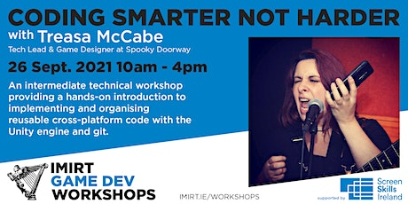 Imirt Workshop: Coding Smarter Not Harder with Treasa McCabe tickets