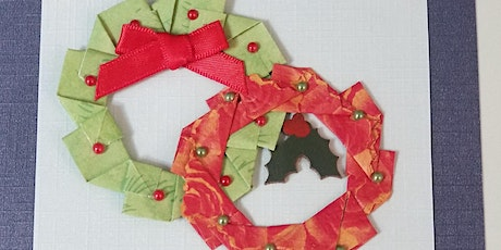 Workshop to learn how to make a teabag folded wreath card tickets