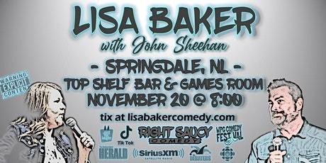 Lisa Baker - Right Saucy Comedy - Springdale, NL tickets