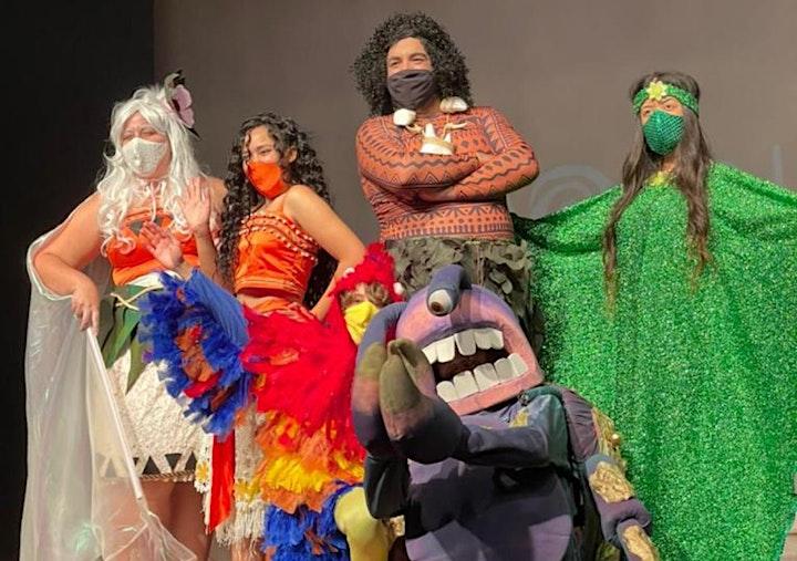 Imagem do evento Desconto:  Moana e Maui, Um Aventura no Mar Cantado ao Vivo no Teatro BTC