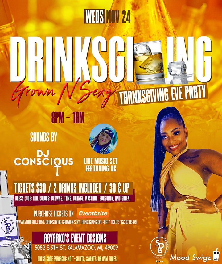 """""""DrinksGiving"""" Grown N Sexy Thanksgiving Eve Party image"""