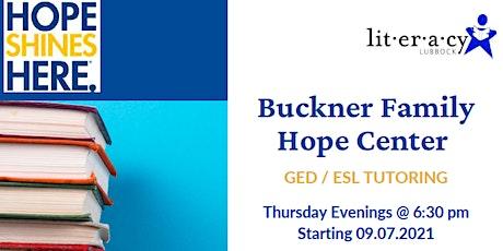 Buckner Family Hope Center  GED/ESL Tutoring tickets