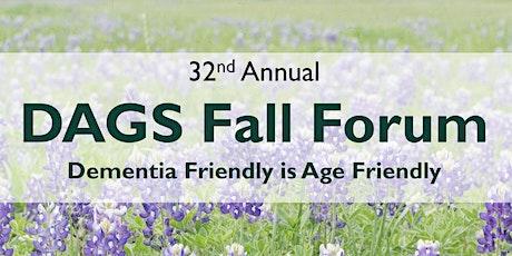 DAGS Fall Forum | Dementia Friendly is Age Friendly, Y'All tickets