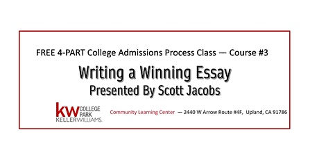 FREE 4- Part Series - Course #3: Writing a Winning Essay tickets