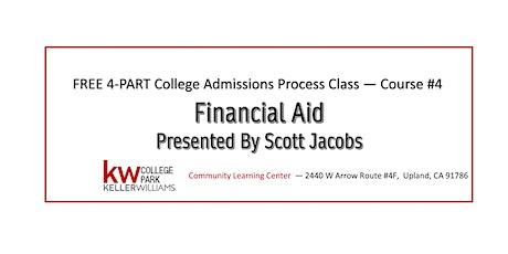 FREE 4-Part Series - Course #4: Financial Aid tickets