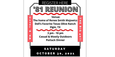 Travis Class of '81 Reunion tickets