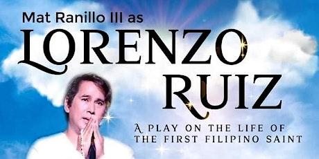 LORENZO RUIZ, the first Filipino Saint tickets