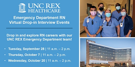 UNC REX Emergency Department RN Virtual Drop-in Interview Events tickets