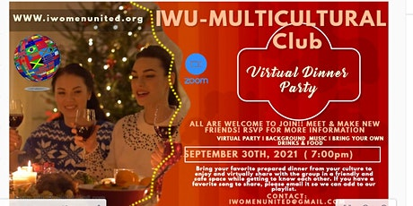 Multicultural Dinner Party- Virtual***All Are Welcome!! tickets