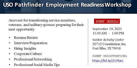 USO Transitions Employment Readiness Workshop tickets