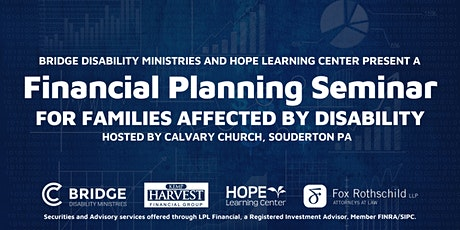Financial Planning Seminar for Families Affected by Disability tickets