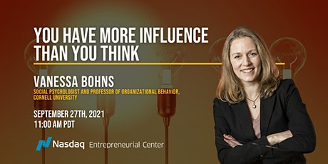You Have More Influence Than You Think with Vanessa Bohns tickets