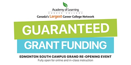 Guaranteed Grant Funding Open House with AOLCC Edmonton South tickets