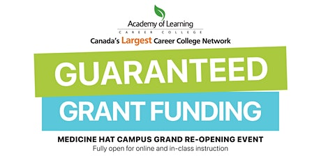 Guaranteed Grant Funding Open House with AOLCC Medicine Hat tickets