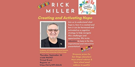 """""""Creating and Activating Hope"""" for Educators with Author Rick Miller tickets"""