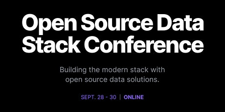 Open Source Data Stack Conference tickets