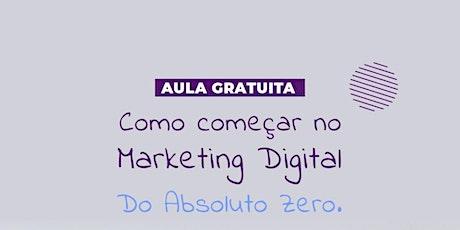 Como Começar no Marketing Digital tickets
