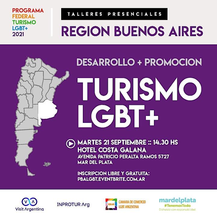 Imagen de REGION BUENOS AIRES :: PROGRAMA FEDERAL TURISMO LGBTQ+ (evento presencial)