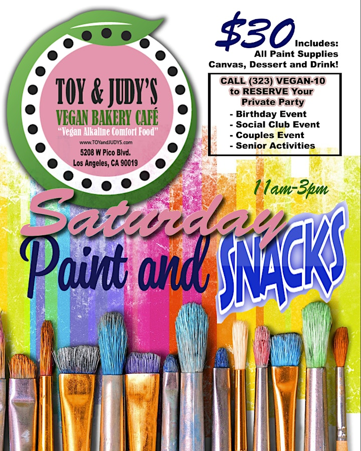 """PAINT & SNACK """"SATURDAY'S"""" image"""