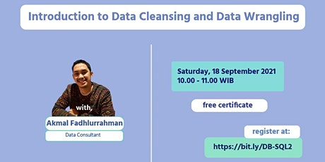 Introduction to Data Cleansing and Wrangling (Non IT Background) tickets