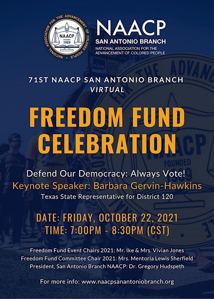 71st NAACP San Antonio Branch Virtual Freedom Fund Celebration image